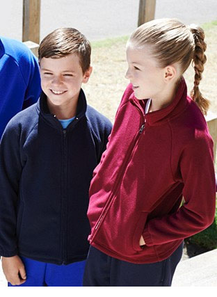 CJ1428 KIDS POLAR FLEECE ZIP THROUGH JACKET