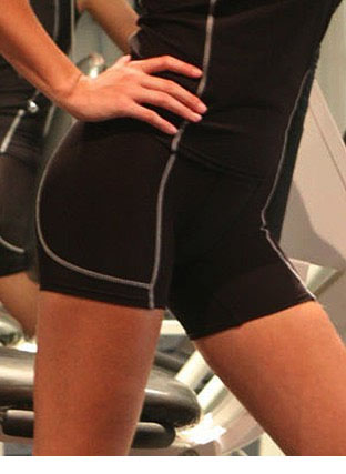 CK932 PERFORMANCE WEAR-LADIES/KIDS CROPPED BIKE SHORTS