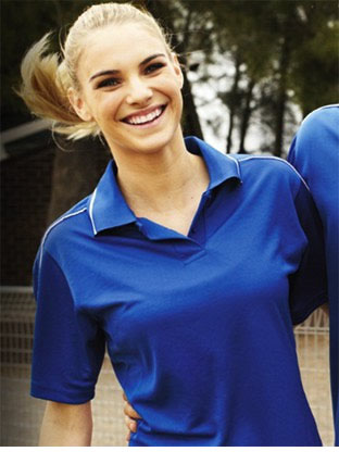 CP0674 LADIES BREEZEWAY STRIPED POLO