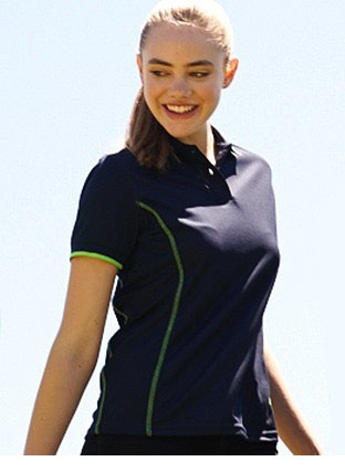 CP0920 STITCH FEATURE ESSENTIALS-LADIES SHORT SLEEVE POLO