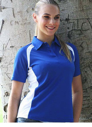 CP0929 TEAM ESSENTIAL-LADIES SHORT SLEEVE CONTRAST PANEL POLO