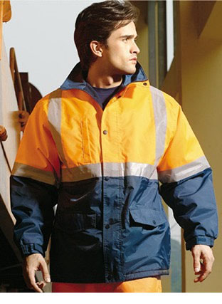 SJ0430 HI-VIS POLAR FLEECE LINED JACKET WITH REFLECTIVE TAPE