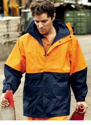 SJ0431 HI-VIS POLAR FLEECE LINED JACKET