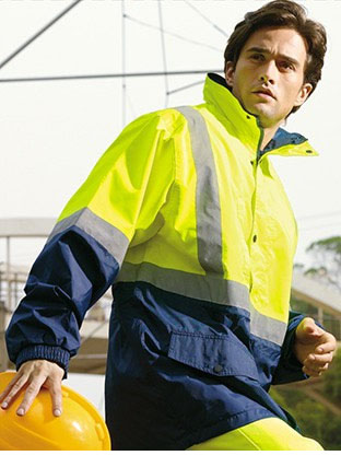 SJ0432 HI-VIS MESH LINING JACKET WITH REFLECTIVE TAPE