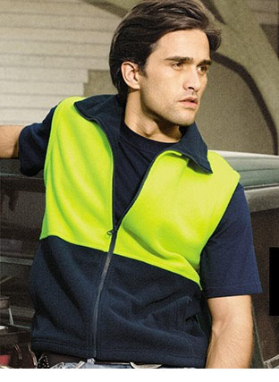 SJ0541 HI-VIS POLAR FLEECE VEST