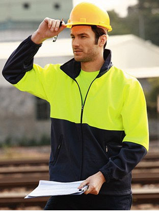 SJ1237 HI-VIS FULL ZIP FLEECE