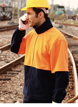 SJ1238 HI-VIS FULL ZIP POLAR FLEECE