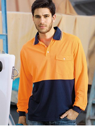SP0426 HI-VIS SAFETY POLO -LONG SLEEVE