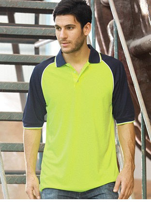 SP0543 HI-VIS RAGLAN SLEEVE POLO