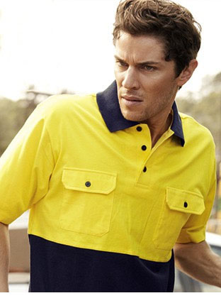 SP1010 HI-VIS COTTON JERSEY POLO S/S