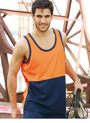ST0540 HI-VIS POLYFACE/COTTON BACK SINGLET