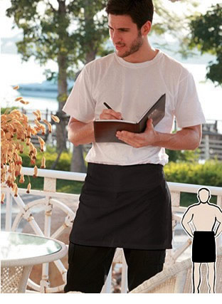 WA0387 COTTON DRILL QUARTER APRON -NO POCKET