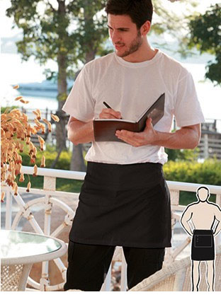 WA0388 COTTON DRILL QUARTER APRON -WITH POCKET