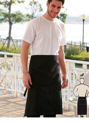 WA0391 COTTON DRILL THREE QUARTER APRON -WITH POCKET
