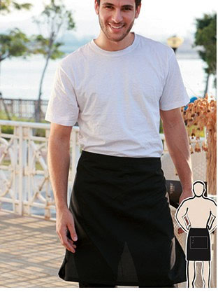 WA0671 COTTON DRILL HALF APRON -NO POCKET