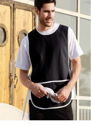 WA0676 POLYESTER DRILL POPOVER APRON -WITH POCKET