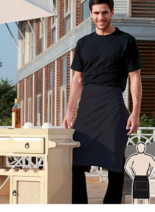 WA0678 POLYESTER DRILL HALF APRON -NO POCKET