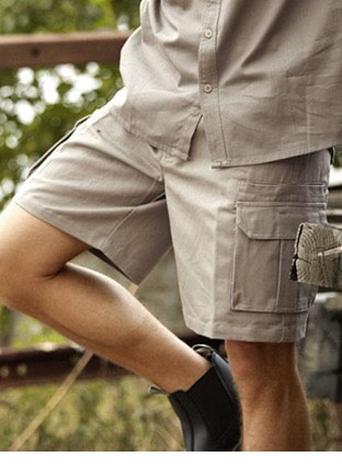 WK615 COTTON DRILL UTILITY SHORTS